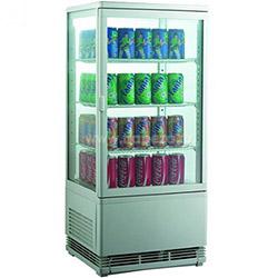 Витрина холодильная, 68 л., 3 полки, вертикальная, белая
