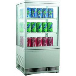 Витрина холодильная, 58 л., 2 полки, вертикальная, белая