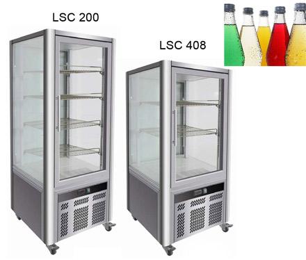 Шкаф-витрина с 4-х сторонним стеклением серии LSC от KORECO