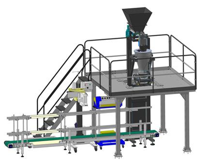 «Русская Трапеза» представила новое оборудование для фасовки муки в крафт-мешки дозами до 25 кг.