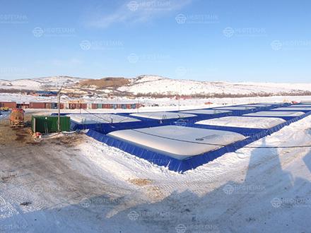 Гибкий полимерный эластичный резервуар для нефтепродуктов