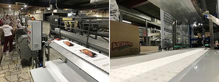 Автоматизированная конвейерная линия инспекции и упаковки вафель от «Флайт-М»