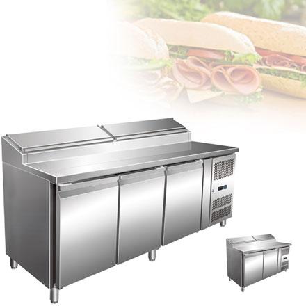 Холодильные рабочие станции с отделением для ингредиентов KORECO SH 3000