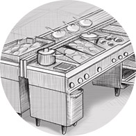 Оснащение помещения ресторанов — оборудование для кухни