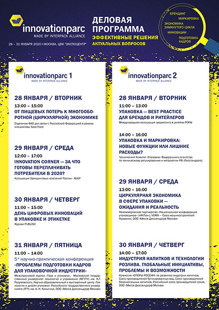 Выставка upakovka 2020 - Деловая программа