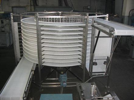 Спиральный конвейер пельмени конвейер для холодильника