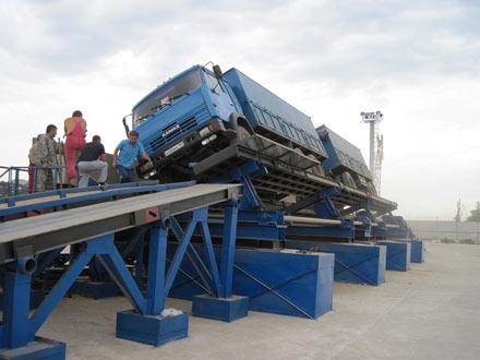 Автомобилеразгрузчик механический боковой РМБ (АВС 50М)