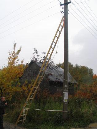 ВЛ - Лестница составная на опоры диэлектрическая