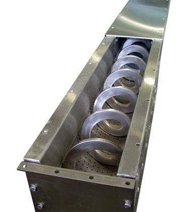 Шнековый без осевой транспортер принцип работы пластинчатого транспортера